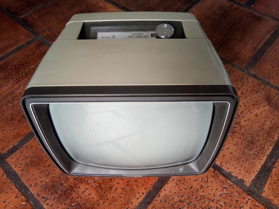 Tv Philco Portátil P&b Anos 80 Vintage Raridade Retro Decor