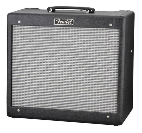 Amplificador Fender Hot Rod Blues Junior III 15W valvular negro y plata 220V
