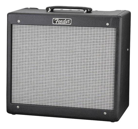 Amplificador Fender Hot Rod Series Blues Junior III Valvular 15W negro y plata 220V