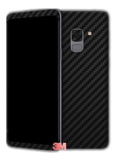 Adesivo 3m Skin Capa Preto Carbono Samsung Galaxy A8 Plus