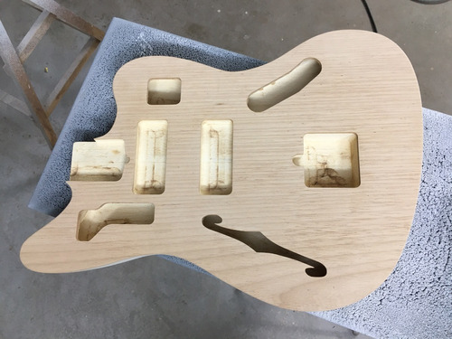 Corpo Guitarra Modelo Jaguar Thinline