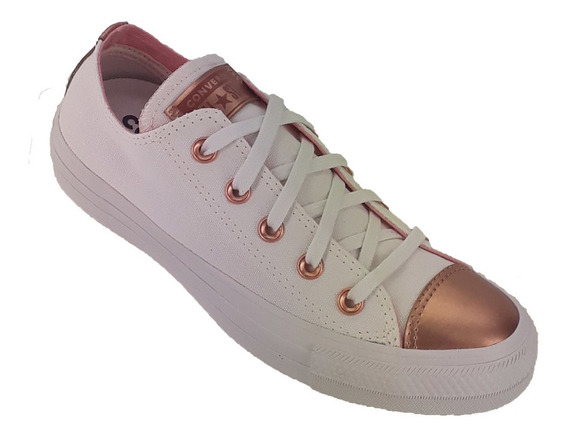 Zapatilla Converse Mujer All Star Metalic Low Blanco