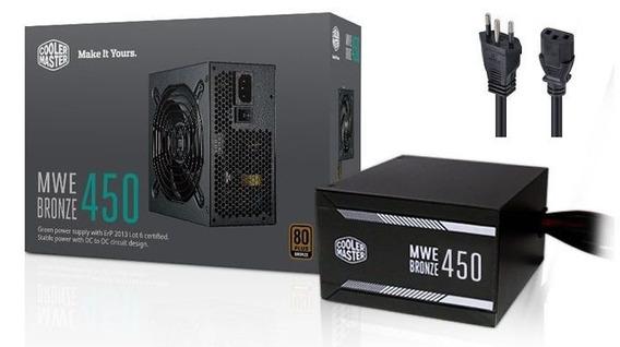 Fonte Atx Mwe 450w 80 Plus Bronze Mpx 4501 Cooler Master
