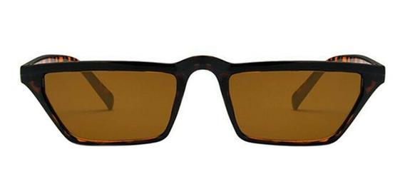 Oculos Cat Eye Retro Turtle Lente Marrom Leve Protec Uv 400