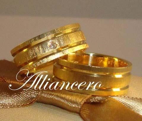 Alianças Ouro 18k 20gr - Frete Gratis - Diamante Alliancero