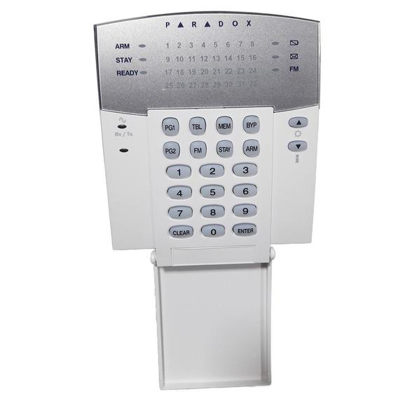 Teclado Wireless Led Para Central De Alarme Paradox Mg32wk