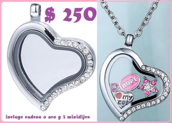 Relicario + Cadena O Aro + 5 Minidijes = $250 Mxn