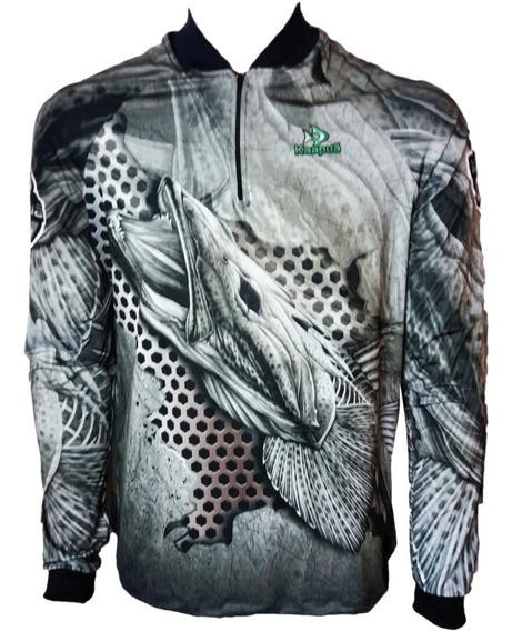 Camisa De Pesca Fps Uv50+ Kaapuã Kaa25 E Tube De Brinde