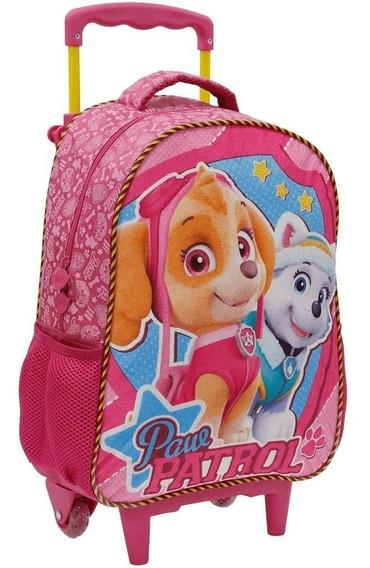 Mochila Patrulha Canina Rodinha Skye 7981 Rosa Infantil 16