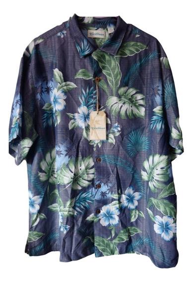 Camisa Hawaiana Caribbean Color Azul De Hombre Xl