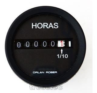 Horimetro Cuentahoras Orlan Rober 12-24 Volts Bivoltaje