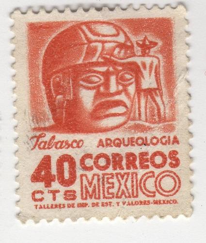 Imagen 1 de 2 de Timbre De México, Tabasco Arqueologia