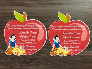 30 Convite Maca Branca De Neve No Mercado Livre Brasil