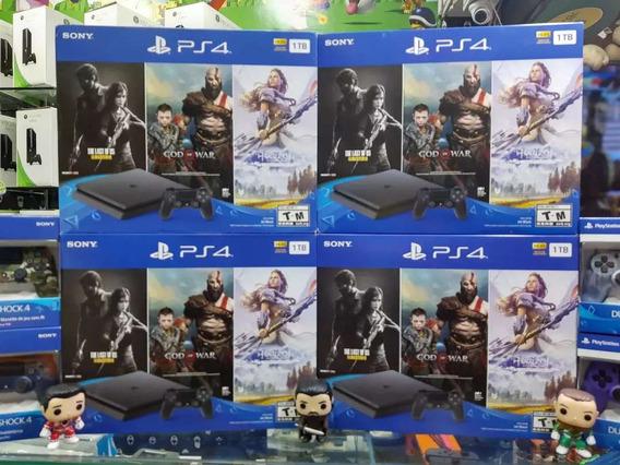 Playstation 4 Slim 1tb Nueva Sellada+ 3 Juegos. Super Precio