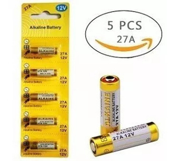 Kit 10 Cartelas Pilha 27a 12v Bateria Alcalina Fina 5 Peças