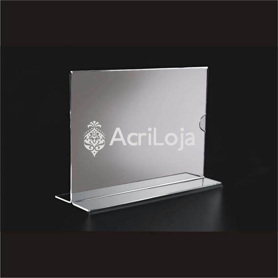 Combo 10 Display De Mesa De Acrilico A Folha A4 T Vertical