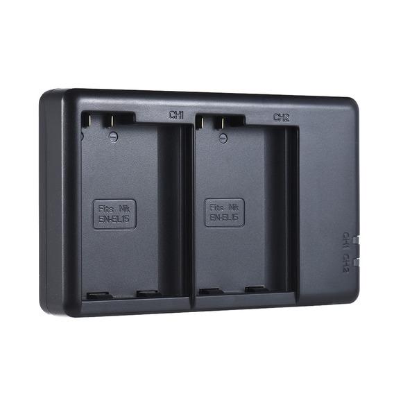 Carregador Bateria Câmera Fb Pt -el15 2- Micro - Entrada Usb