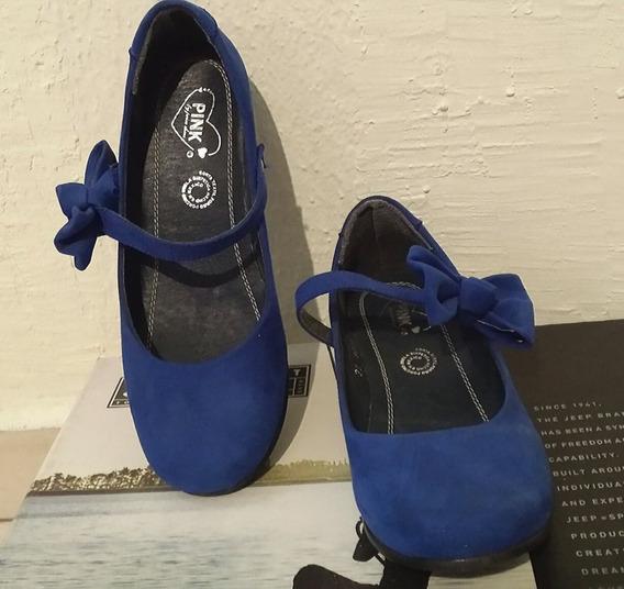 Zapatos Flat Moda Casual Dama Calzado Gamuza Azul No. 25