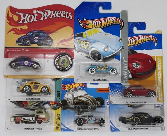 Hot Wheels 7 Volkswagen: Beetle 50 Anos + Fusca Kafer + 5