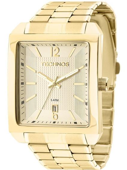 Relógio Technos Masculino Dourado Quadrado - 2115kob/1d