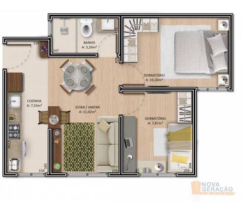 Apartamento Com 2 Dormitórios À Venda, 47 M² Por R$ 169.999,00 - Bela Vista - Caxias Do Sul/rs - Ap0875