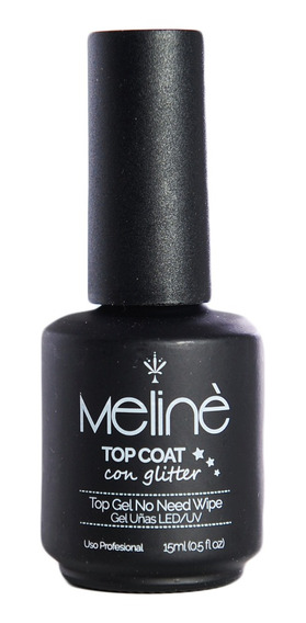 Meliné Esmalte Semipermanente Top Coat Glitter Gel On-off