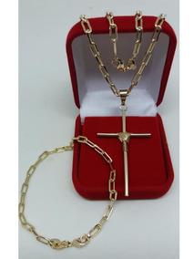 Cordão Corrente Banhado Ouro 18k+pulseira E Pingente,3.5m