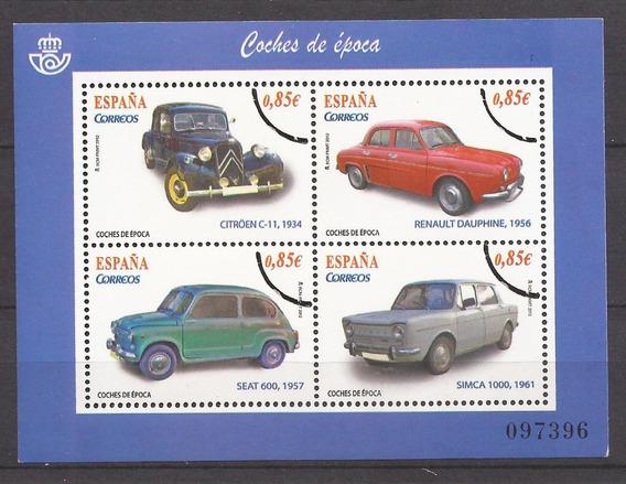 España 2012 Bloque Specimen Autos De Epocá - 194