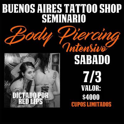 Curso De Body Piercing-perforaciones Corporales-tattoo.