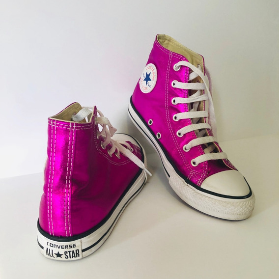 Zapatillas Botita Converse All Star Original Fucsia Talle 35