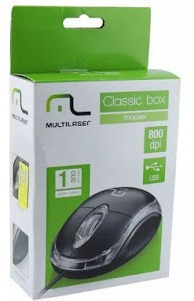 Mouse Classic Box Óptico Usb Mo179 Preto