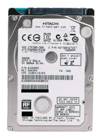 Hd Notebook 250gb Sata 3 Hitachi Hgst Slim 5400rpm - Novo