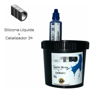 Caucho Silicona Liquida 500g Para Moldes - Rtv2 Poliuretano