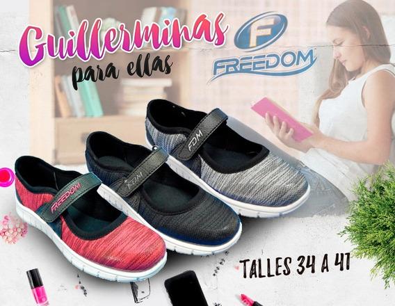 Guillermina Deportiva De Mujer Con Abrojo 34/41 Oferta !!