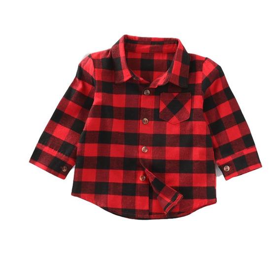 Camisa Infantil Xadrez Menino E Menina Flanelada