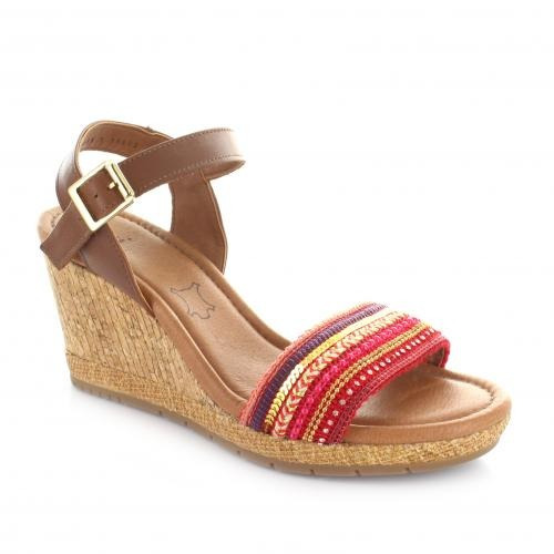 Sandalia Para Mujer Flexi 35602-043665 Color Rojo