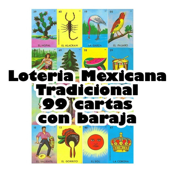 Loteria Mexicana Digital Imprimible 99 Cartas C/baraja