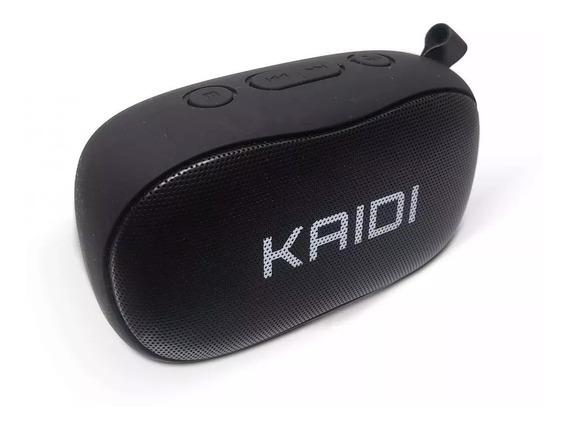 Caixa De Som Bluetooth Microfone Embutido Fm 6w Kaidi Kd811