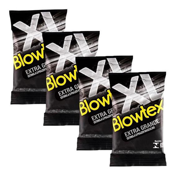 Kit C/ 4 Pacotes Preservativo Blowtex Extra Grande C/ 3 Un