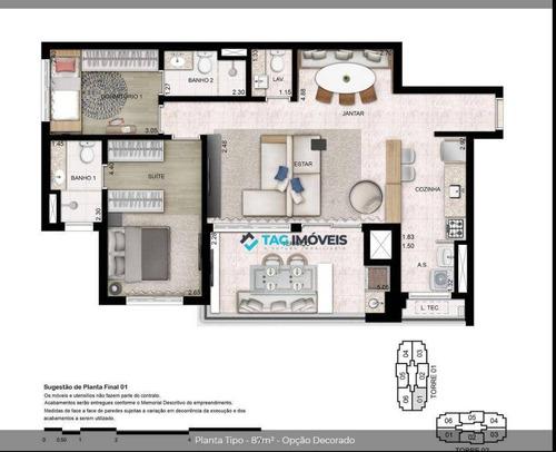 Imagem 1 de 17 de Apartamento Para Venda Com 87 Metros Quadrados No Jardim Guanabara Em Campinas - Sp. - Ap2484