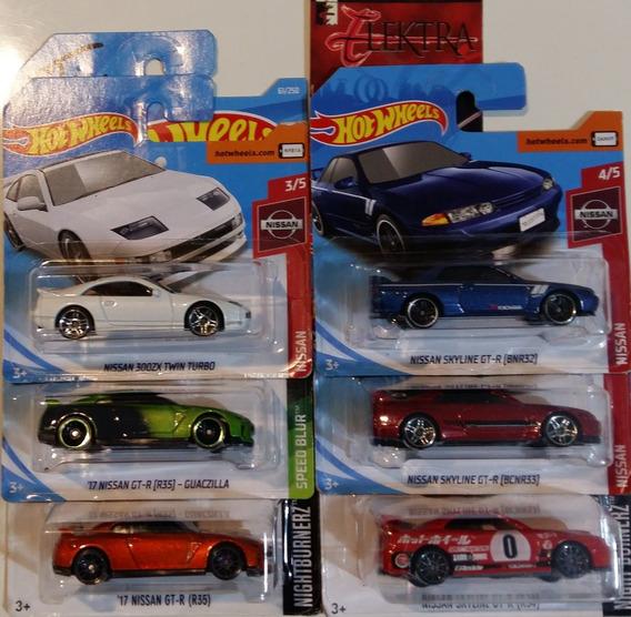 Hot Wheels Lote 6 Minis Nissan Skyline R32 R33 R34 R35 300zx