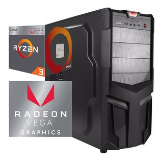 Torre Cpu Gamer Ryzen 3 Radeon Vega 1tb 8gb Pc Wifi Gratis