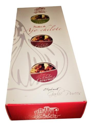 Estuche 3 Pack  Mini Pastas De Ajo Chilote 30grs