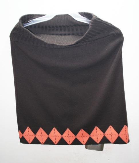 Falda Dama Usada Marca Zephir Color Café Oscuro