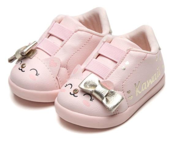 Tênis Feminino Pampili Infantil Pom Pom Rosa 108141