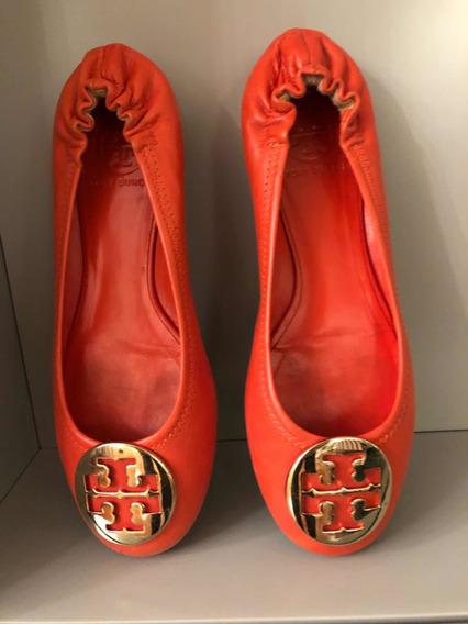 Zapatos De Mujer Tory Burch Talle 37 Color Naranja