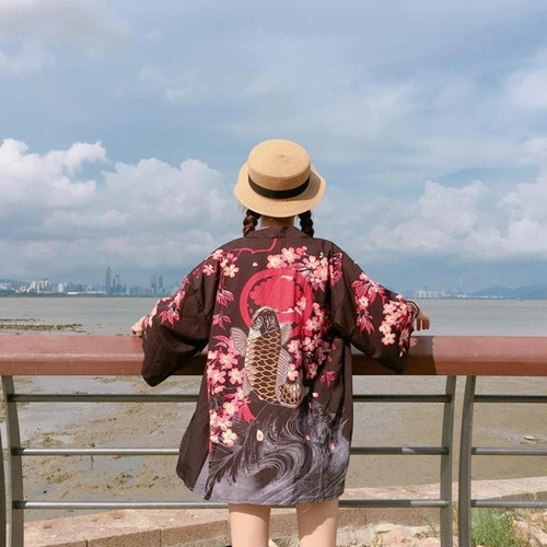 Imagen 1 de 1 de Kimono Pez Koi Unisex