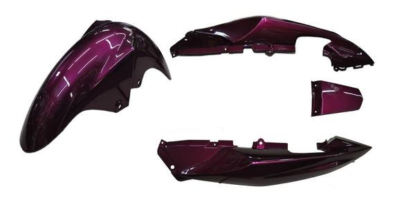 Paralama Diant+rabeta Yamaha Ys Fazer 250 2016 Roxo Magenta