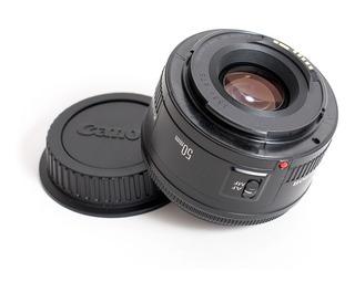 Lente Fijo Camara Canon Ef 50 Mm. Filtro 52mm Súper Spectra