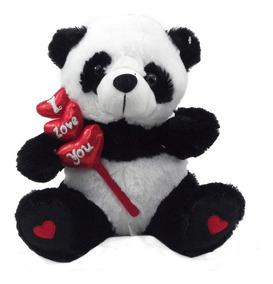 Bicho De Pelúcia Urso Panda 27 Cm Antialérgico Lavável